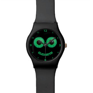 Green Blue Two Eyes With Flare Watches