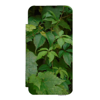 green boho leaves autumn celtic incipio watson™ iPhone 5 wallet case