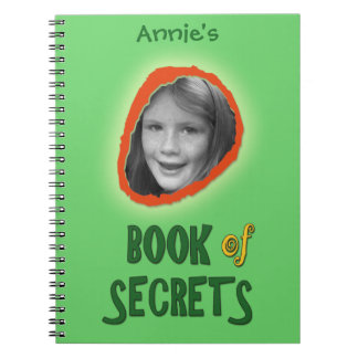 Green Book of Secrets with Custom Photo and Name
