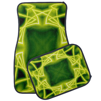 Green Boxes Car Mat