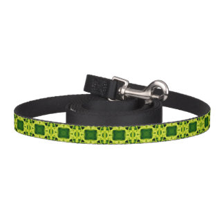 Green Boxes Dog Lead
