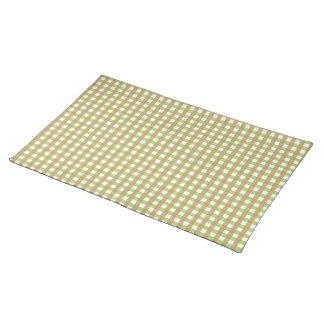 Green & Brown Crosshatched Placemat