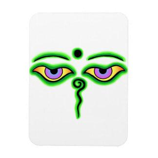 Green Buddha Eyes.png Rectangular Photo Magnet