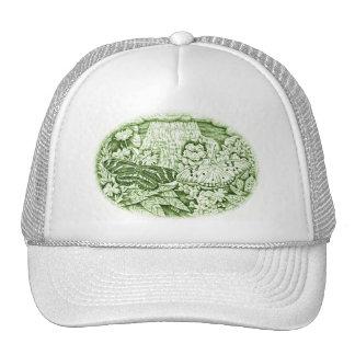 Green Butterflies Cap