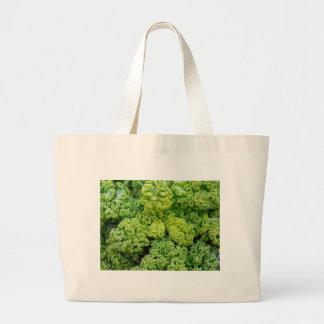 Green cabbage large tote bag