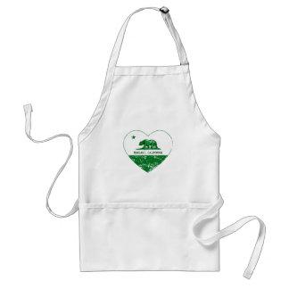 green california flag oakland heart standard apron