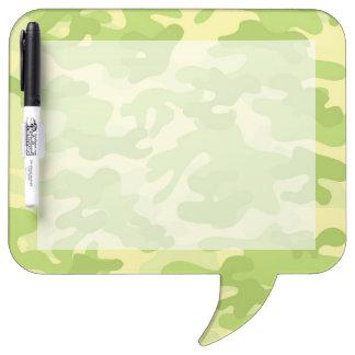 Green Camo Design Dry Erase Board
