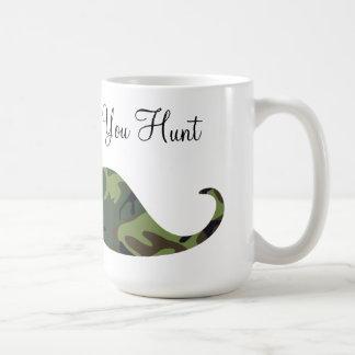 Green Camo Mustache - I Mustache if You Hunt Mug
