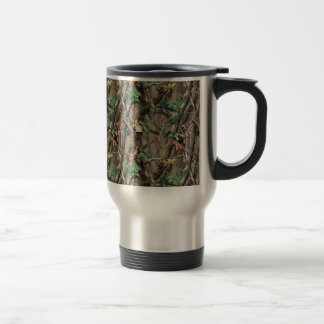 Green Camo Stainless Steel Travel Mug
