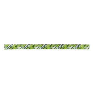 Green Camouflage Ribbon Satin Ribbon