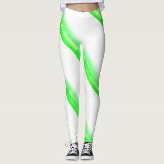 Green Candy Cane Christmas Leggings