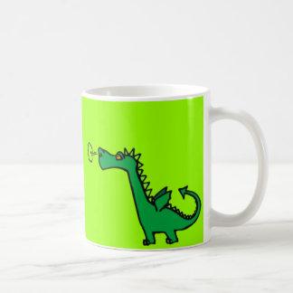 Green Cartoon Dragon Classic White Coffee Mug
