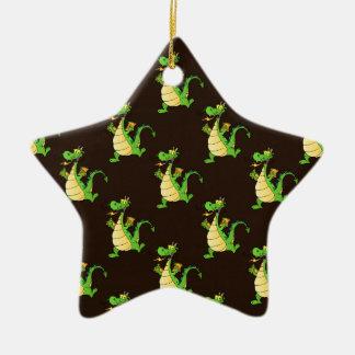 Green Cartoon Dragon Pattern Ornaments