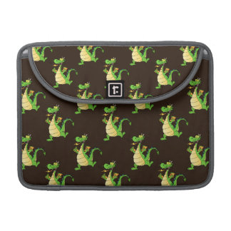 Green Cartoon Dragon Pattern Sleeve For MacBooks