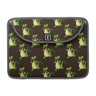 Green Cartoon Dragon Pattern Sleeve For MacBooks