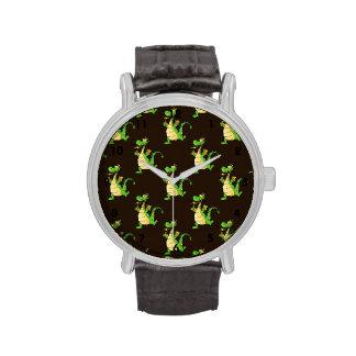Green Cartoon Dragon Pattern Watch