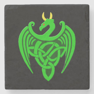 Green Celtic Dragon Coaster
