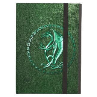 Green Celtic Dragon iPad Air Cover