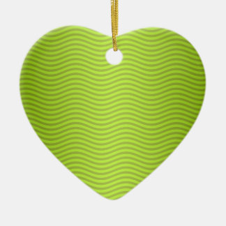 Green Chartreuse Stripes Pattern Christmas Ornament