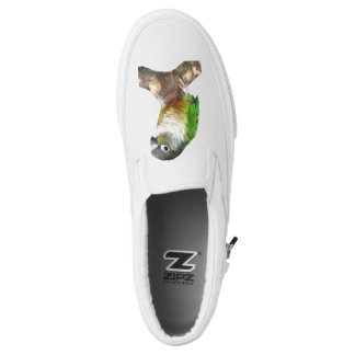 Green Cheek Conure Slip-On Shoes