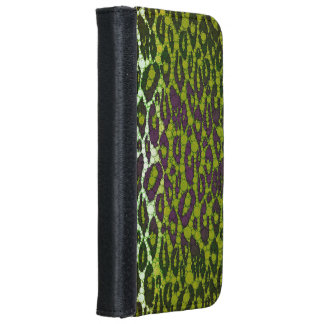 Green Cheetah iPhone 6 Wallet Case