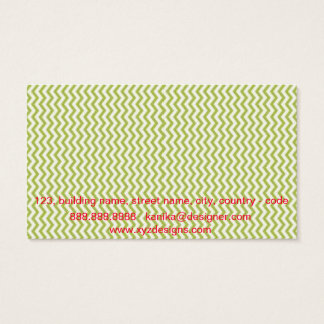 Green Chevron Business Card