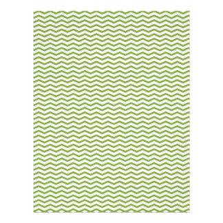Green Chevron/Zig Zag Scrapbook Paper 21.5 Cm X 28 Cm Flyer