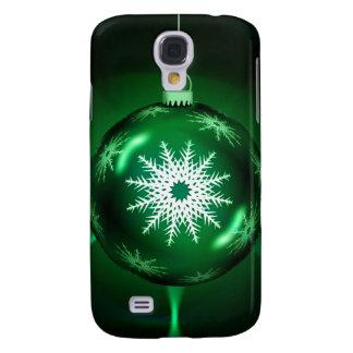Green Christmas Snowflake Samsung Galaxy s4 Case