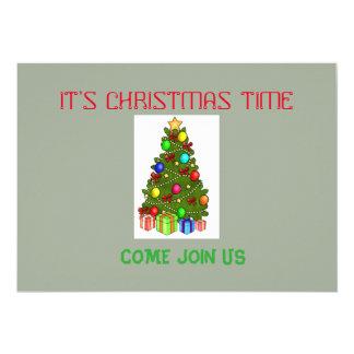 GREEN CHRISTMAS TREE INVITATION