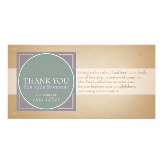 Green Circle P Square Tags Sympathy Thank you P Customised Photo Card