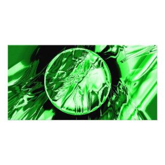 Green Circle Photo Card