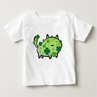 Green Clover Cat Infant T-shirt