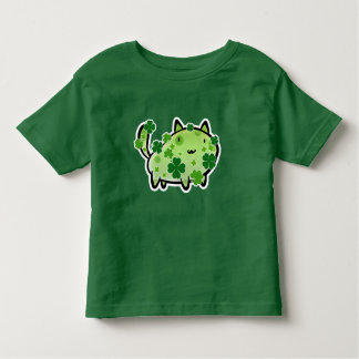 Green Clover Cat Toddler T-shirt