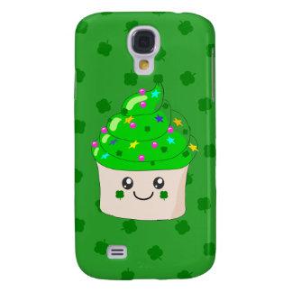 Green Clover St Patricks Day Cute Cupcake Galaxy S4 Case