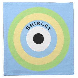 Green Combination Bullseye by Shirley Taylor Napkin