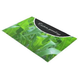 Green corn stalks/leaves photo doormat