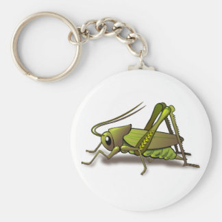 Green Cricket Insect Key Ring
