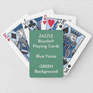 GREEN Custom Bicycle® Blue Face Playing Cards