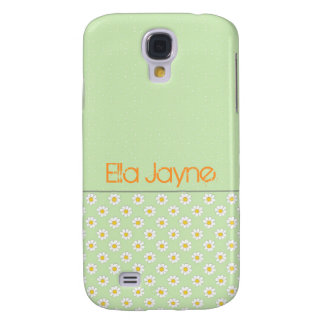 Green Daisy Polka Dots Galaxy S4 Case