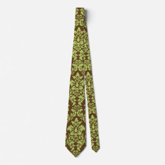 Green Damask Tie