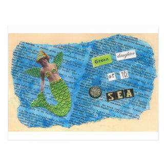 Green Daughter of the Sea Mermaid Postcard