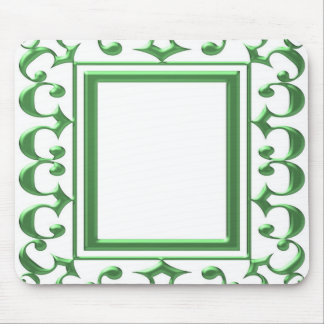 GREEN Decorative Border : Think multi uses Mouse Pad