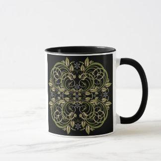 green decorative floral pattern