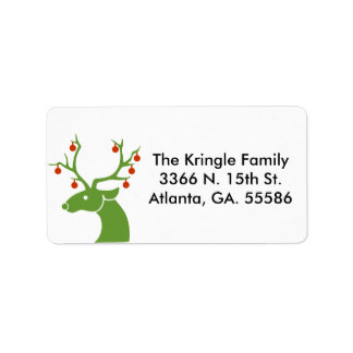Green Deer Address Labels