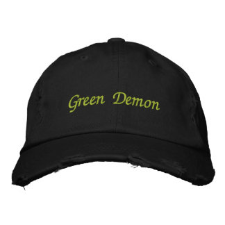 Green Demon hat Embroidered Baseball Cap