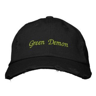 Green Demon hat Embroidered Baseball Cap