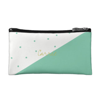 Green Diagonal Polka Dot Cosmetics Bag Monogram