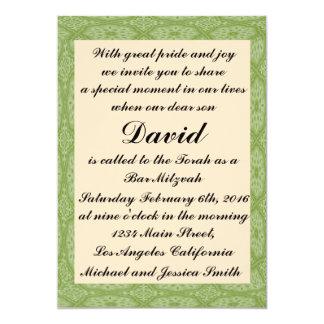 Green Diamond Bar Mitzvah/Birthday Invitation