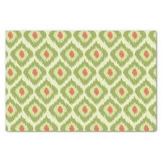 Green Diamond Ikat Pattern Tissue Paper