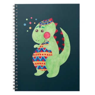 Green Dino Note Book